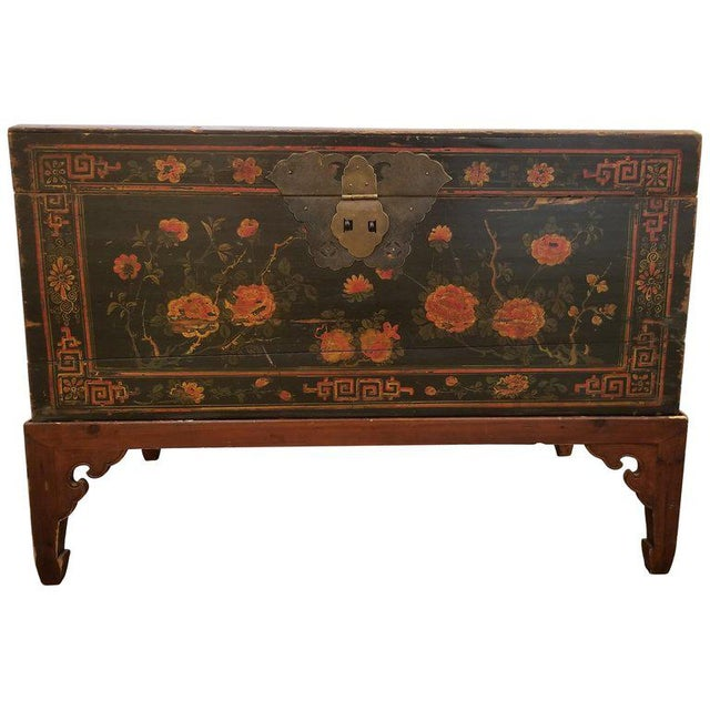 Chinese Trunk on Stand For Sale - Image 13 of 13