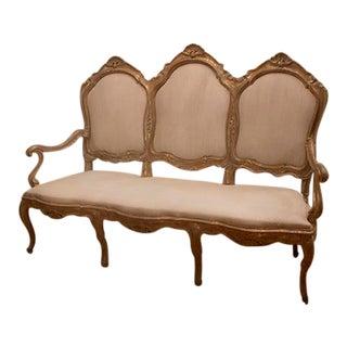 Late 19th Century Vintage Italian Gillded Sofa For Sale