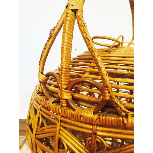 Vintage Large Rattan Basket - Image 6 of 7