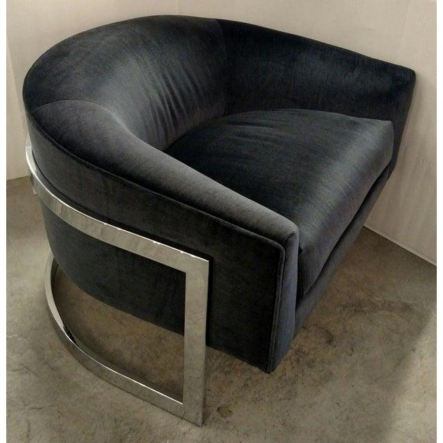 Vintage Milo Baughman Chairs - Pair - Image 2 of 7