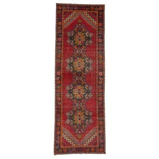 Red Vintage Worn Turkish Runner- 3′1″ × 9′1″ For Sale