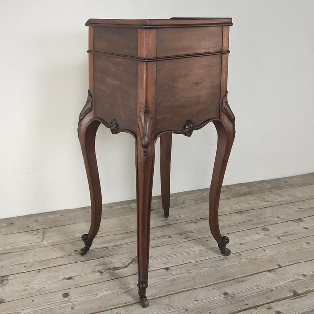 Brown Antique Country French Nightstand For Sale - Image 8 of 13