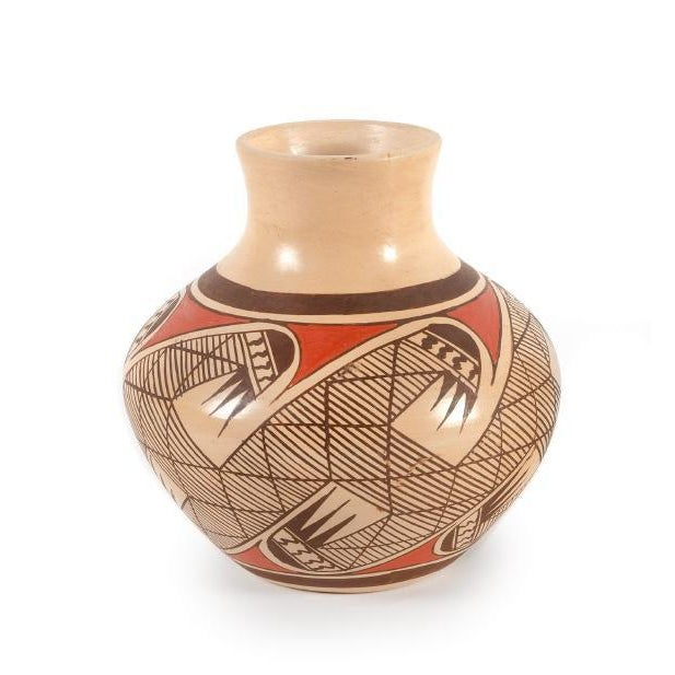 Southwest Clinton Polacca Hopi Polychrome Seed Jar With Migration Pattern For Sale - Image 13 of 13