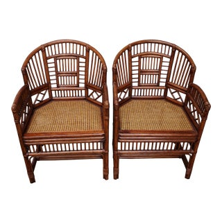 Chinese Chippendale Bamboo Brighton Pavilion Chairs - a Pair For Sale