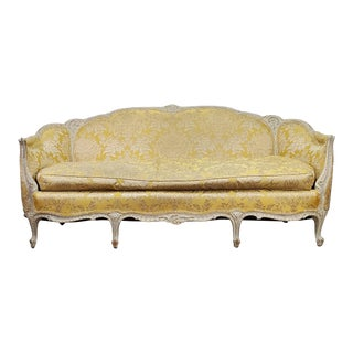 1930s Antique Victorian French Louis XV Style Couch For Sale