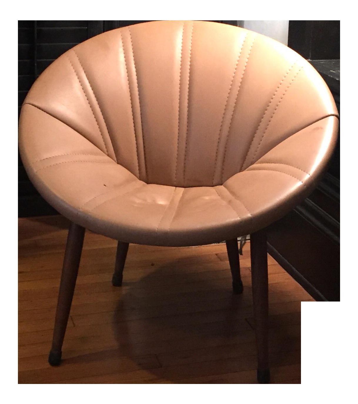 Charmant Vintage Mid Century Modern Papasan Chair