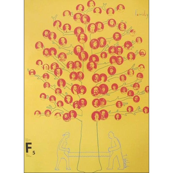 "Contemporary 2007 Contemporary Silkscreen Poster, ""Family Tree"" For Sale - Image 3 of 3"