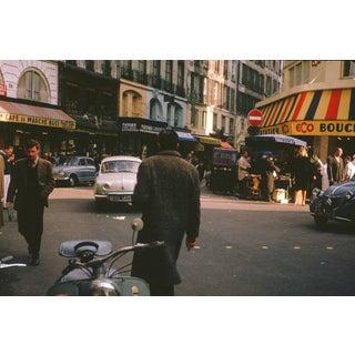 Vintage 1950s Paris France Cafe Photograph Print For Sale