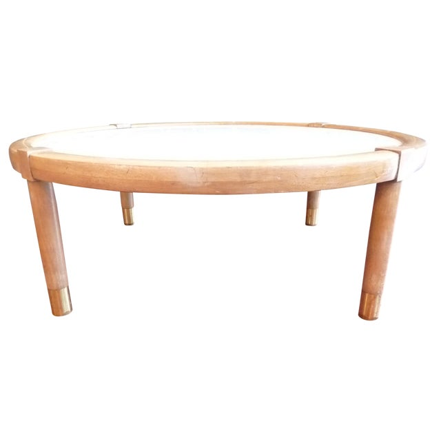 Mid Century Modern Marble Coffee Table - Image 1 of 9