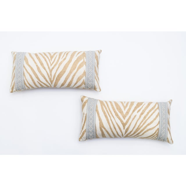 Animal Print Lumbar Pillows- A Pair - Image 2 of 3