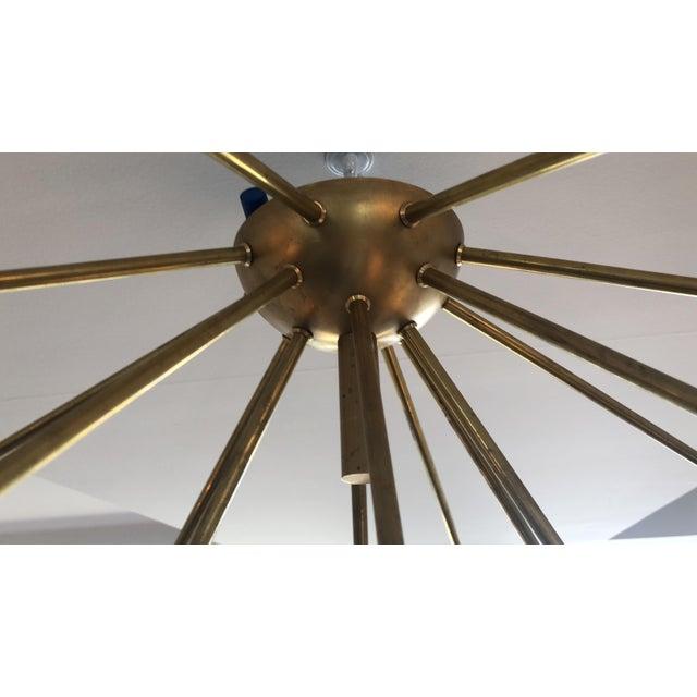 """Not Yet Made - Made To Order """"Sputnik"""" Custom Brass/Black Flush Mount Chandelier For Sale - Image 5 of 7"""