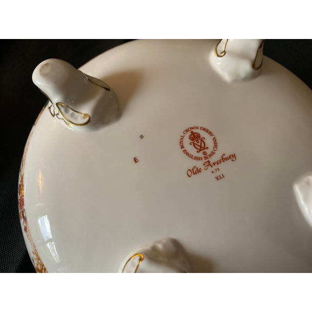 White 1970s Crown Derby Covered Soup Tureen For Sale - Image 8 of 10