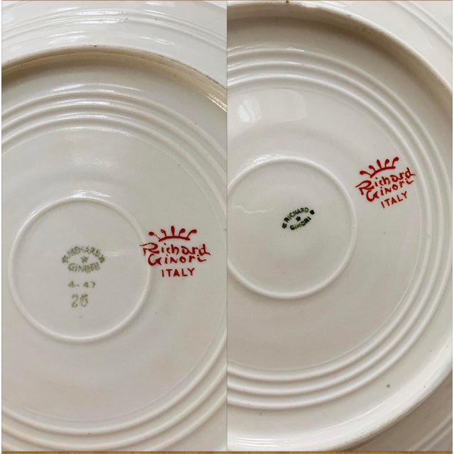 Vintage Richard Ginori Italy, Multicolored Porcelain Salad / Dessert Plates, Flower Patterns , Set of 5 For Sale - Image 11 of 13