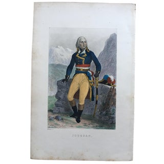 19th Century French Jean-Baptiste Jourdan Hand Colored Steel Engraving