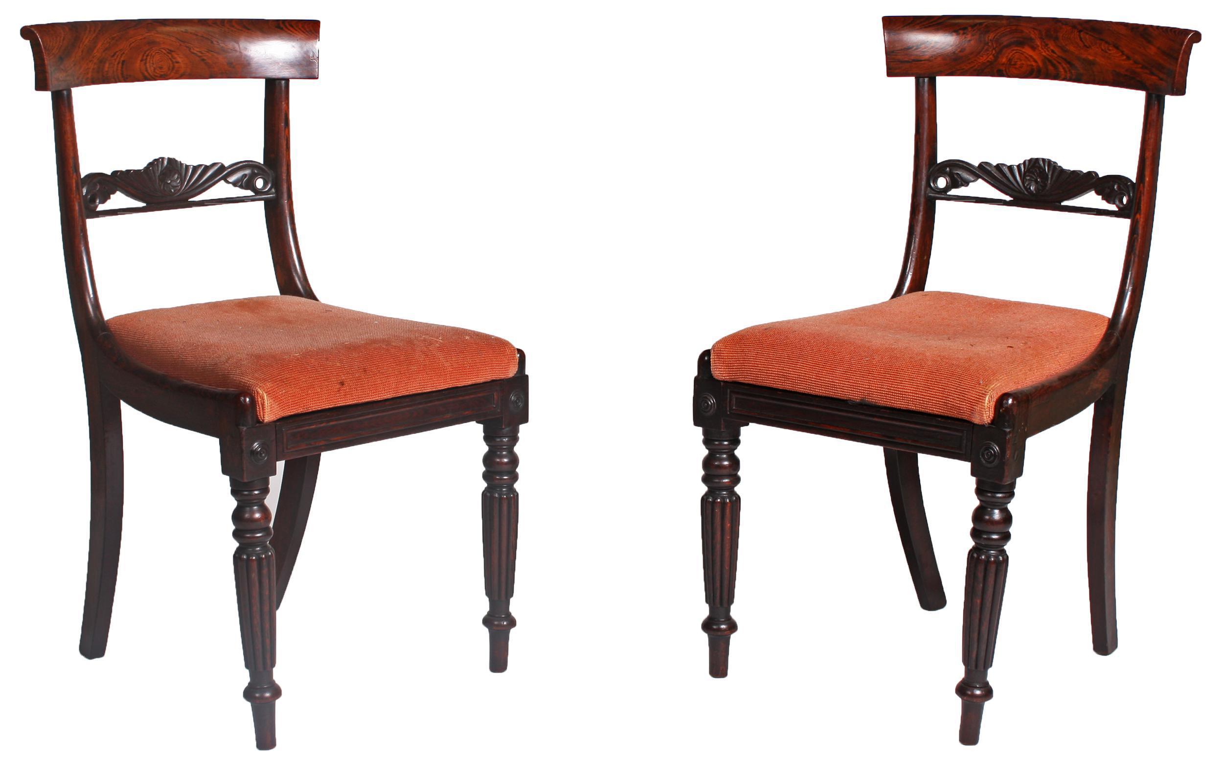 1820s Faux Bois Regency Chairs For Sale