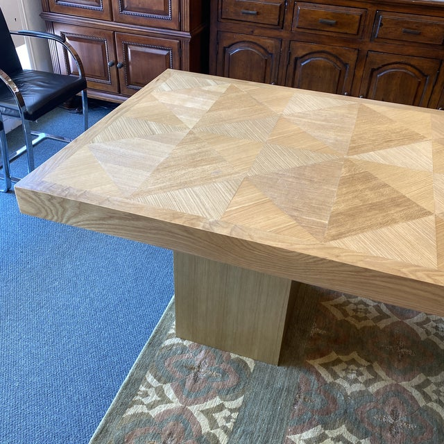 Custom Modern Oak Inlay Dining Table For Sale In San Francisco - Image 6 of 13