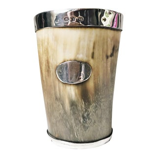 Antique 1895 Sterling and Horn Cup For Sale
