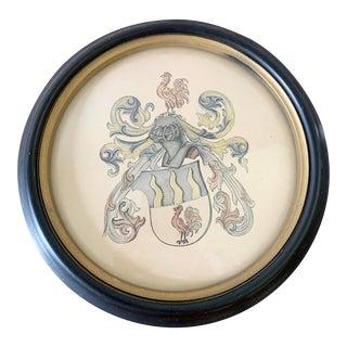 Vintage Framed French Crest For Sale