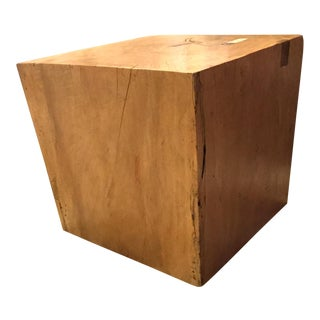 Mid-20th Century Asian Solid Wood Square Side Table