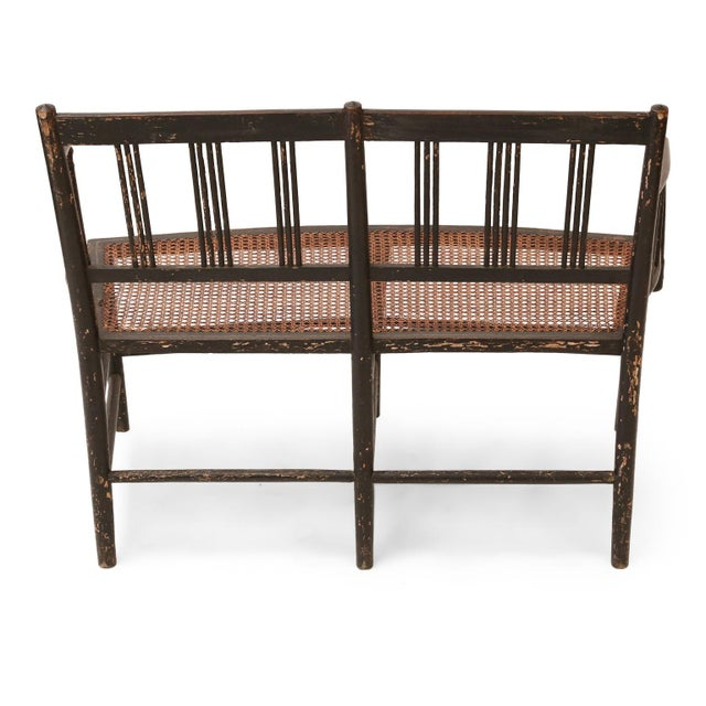 Regency Caned Settee For Sale - Image 4 of 12