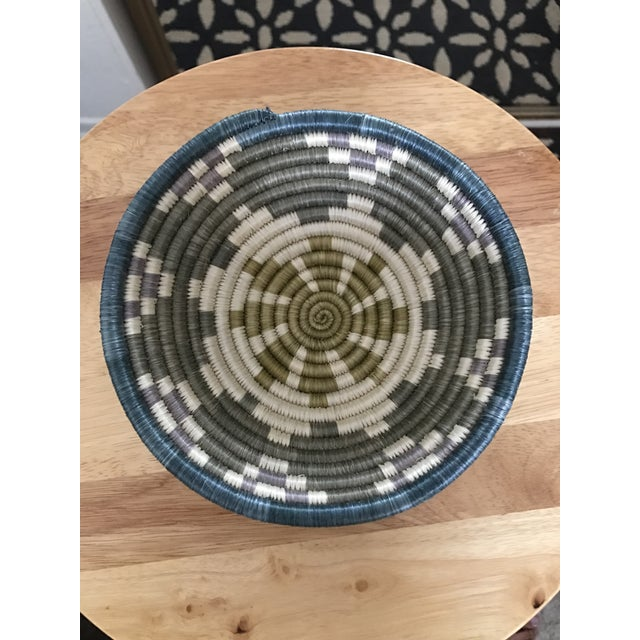 African Multicolored Coil Basket - Image 2 of 5