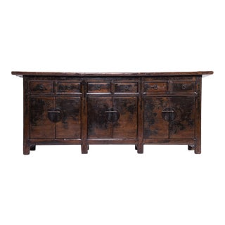 19th Century Provincial Chinese Six Door Coffer For Sale