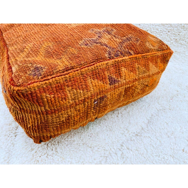 Vintage Moroccan floors cushions hand-woven by Artist Berber craftswomen from vintage Moroccan boujaad rugs. Each Floor...