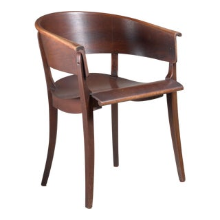 Ernst Rockhausen Bauhaus Style Plywood and Oak Chair, Germany, circa 1928