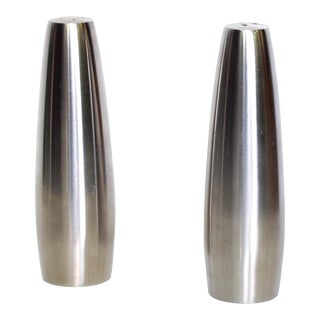 Danish Modern Stainless Steel Salt & Pepper Shakers Dansk Design, Ihq Danmark - a Pair For Sale