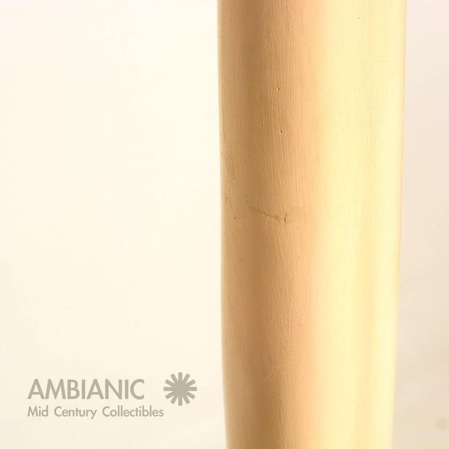 Fiberglass Mid-Century Modern French Torchiere Floor Lamp For Sale - Image 7 of 8