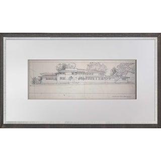 Frank Lloyd Wright Lithograph #'ed Limited ~Heath House, Buffalo, Ny W/Frame For Sale