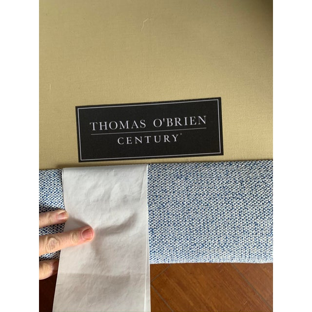 Mid-Century Modern Thomas O'Brien for Century Furniture Blue Tweed Accent Chairs - a Pair For Sale - Image 3 of 6