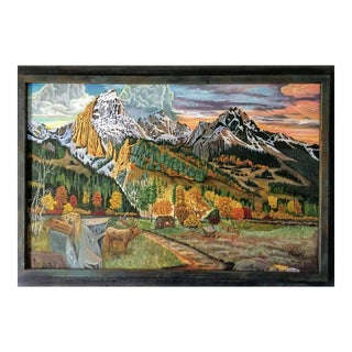 """""""The Grand Tetons"""" Painting For Sale"""