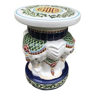 Vintage Porcelain Majolica Garden Stool Base For Sale