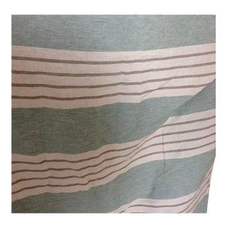 "Round Swamp Stripe Celadon Green by Ralph Lauren - 36x54"" For Sale"