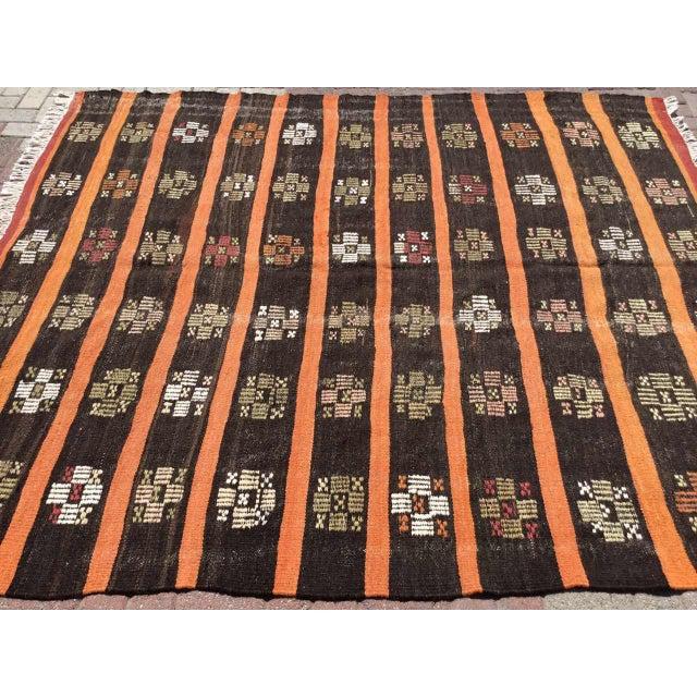 Moroccan Vintage Turkish Kilim Rug For Sale - Image 3 of 11