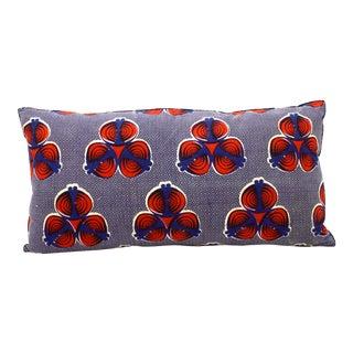 African Wax Print Bolster Pillow