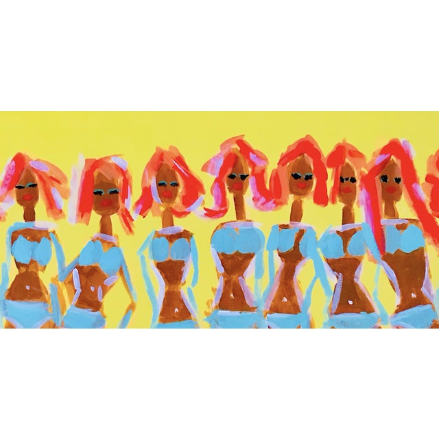 Figurative Palm Springs Pool Party Art Painting For Sale - Image 3 of 4