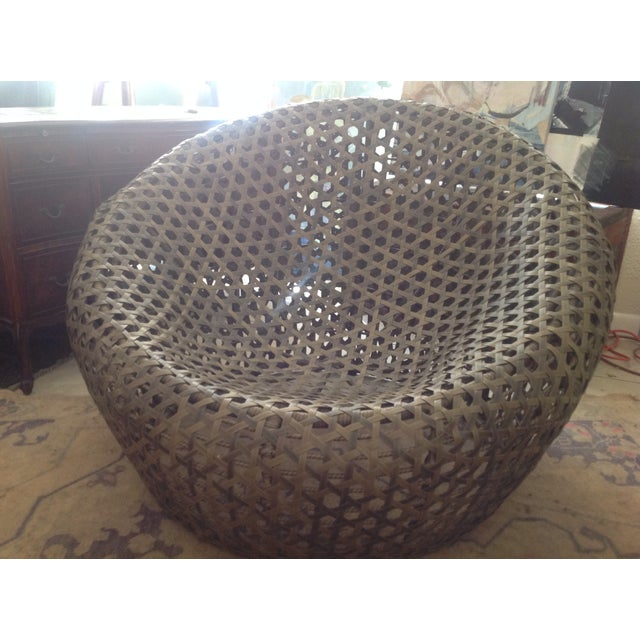 Modernist Rattan Wire Chair - Image 3 of 11