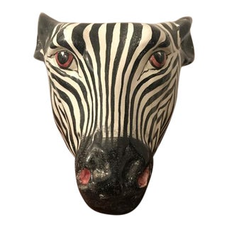 Ceramic Zebra Head Planter
