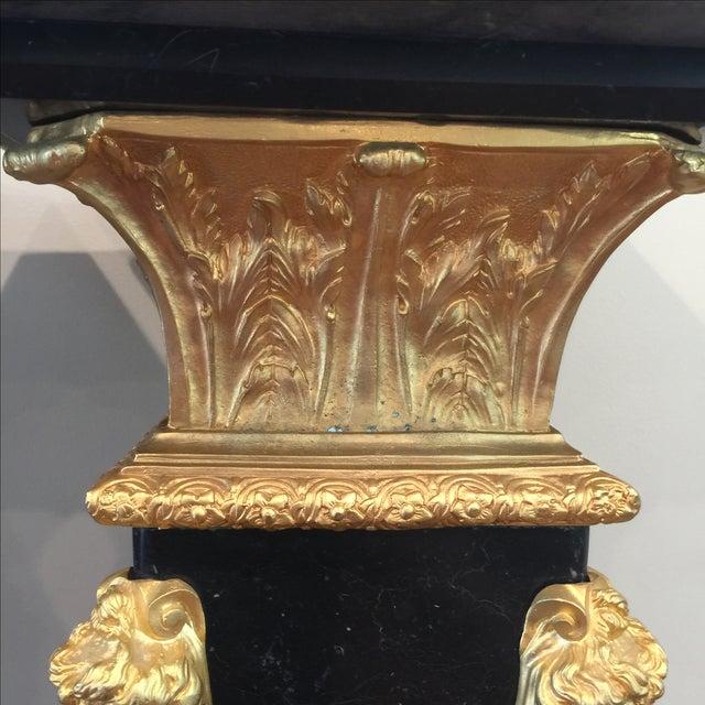 Ormolu-Mounted Black Marble Pedestals - Pair - Image 7 of 11