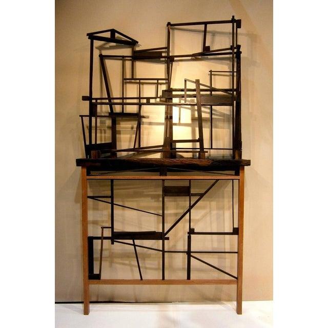 Trent Burkett Ebony Construction Sculpture - Image 4 of 5