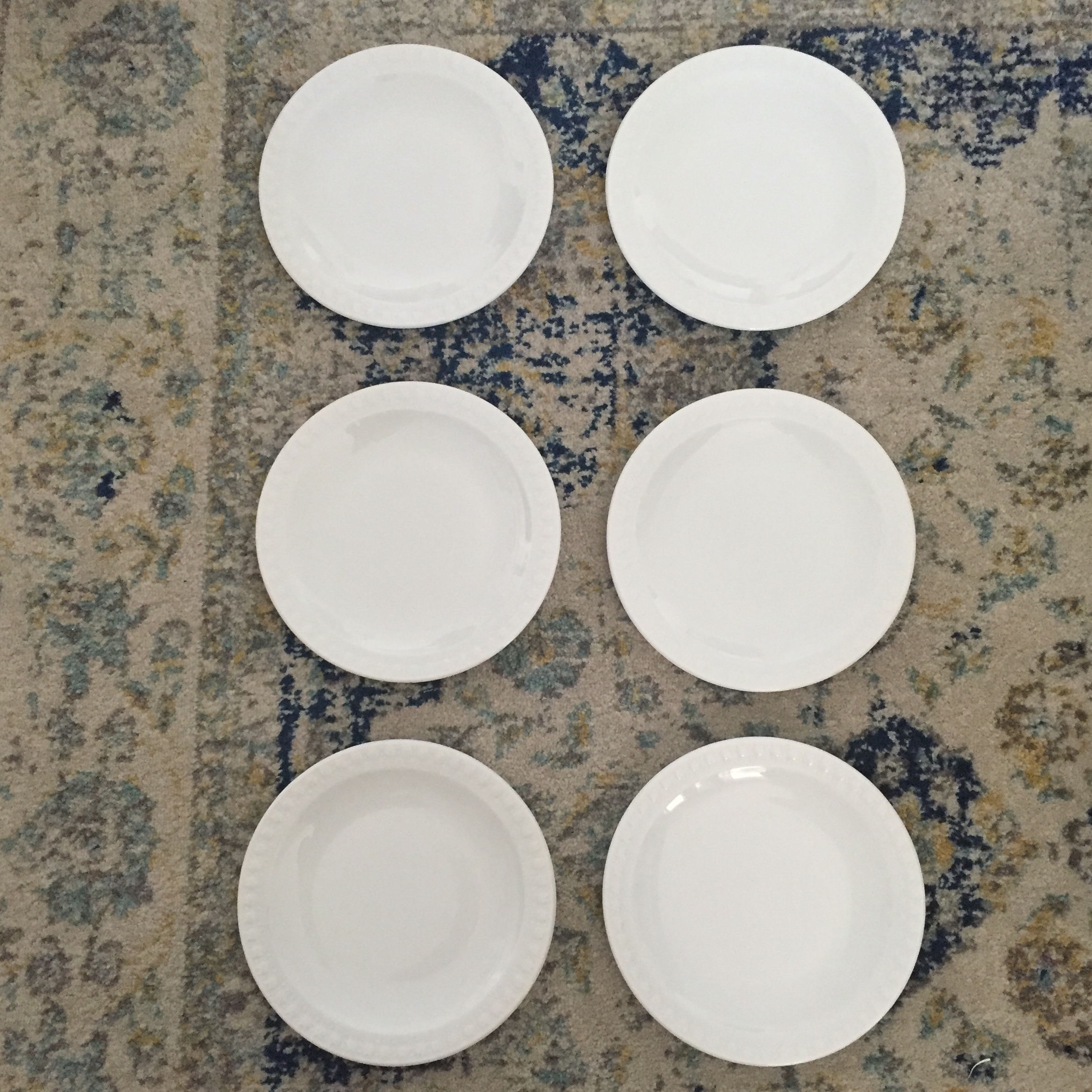 Vintage Corning Pyroceram Tableware White Dessert Plates - Set of 6 - Image 2 of 11 : pyroceram tableware by corning - pezcame.com