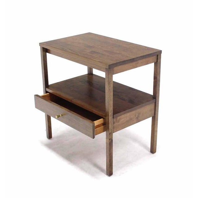 Early 20th Century Mid-Century Modern 1 One drawer End Table Stand For Sale - Image 5 of 6
