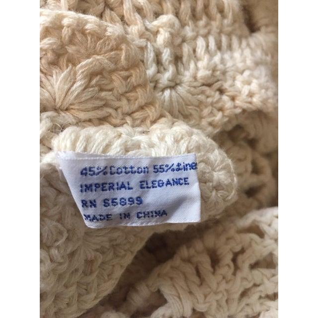 Linen & Cotton Crochet Throw Blanket - Image 9 of 9