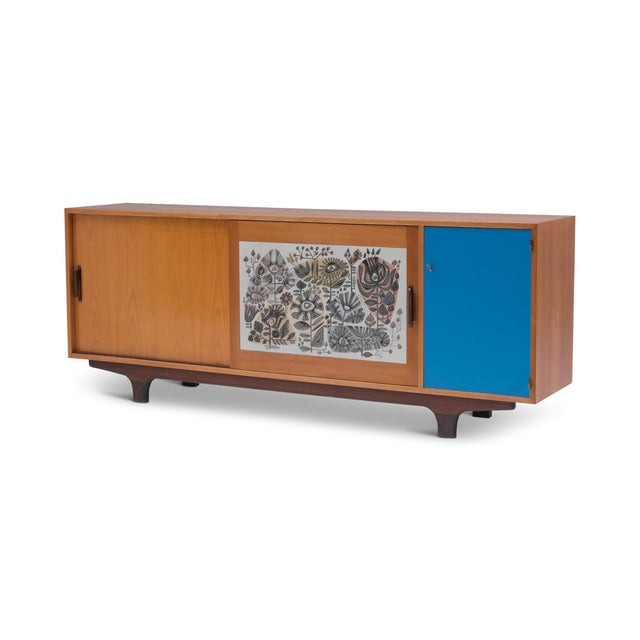 Modernist Sideboard With Perignem Ceramic and Macassar Details For Sale - Image 12 of 12