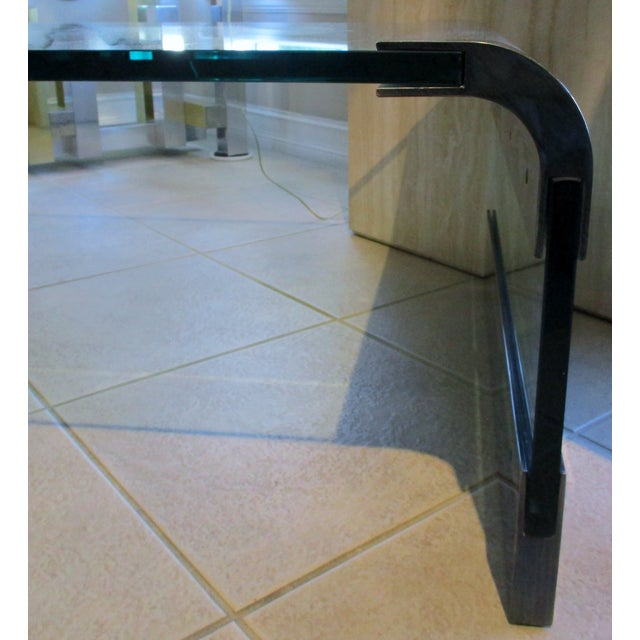 1970s Pace Collection Waterfall Coffee Table by Leon Rosen For Sale In Miami - Image 6 of 8