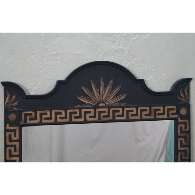 Vintage Hollywood Regency Greek Key Mirror For Sale - Image 7 of 10