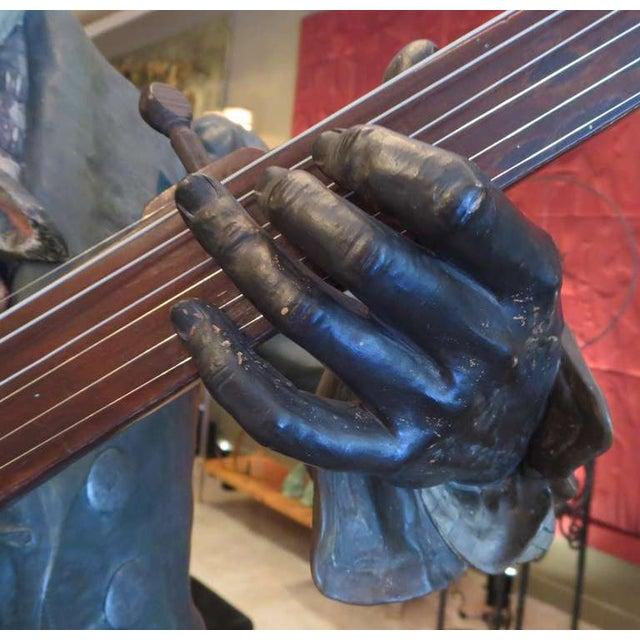Brown Goldscheider Ceramic Minstrel With Banjo For Sale - Image 8 of 8
