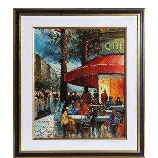 Henri Renard, Paris Cafe, Oil For Sale